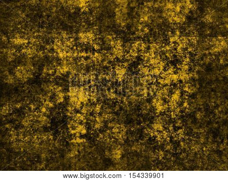 abstract wide colored scratched grunge background - yellow