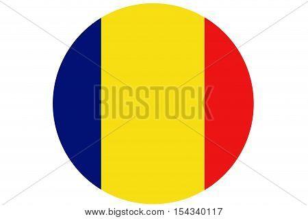 Chad flag ,Chad national flag illustration symbol.