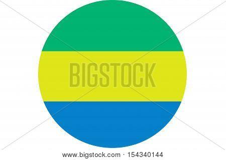 Gabon flag ,Gabon national flag illustration symbol.