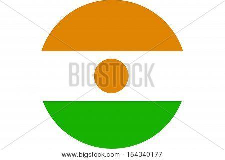 Niger flag ,Niger national flag illustration symbol.Circle flag illustration design