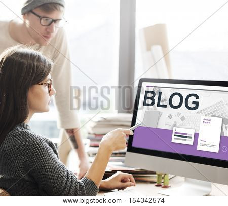 Social Media Communication Networking Concept