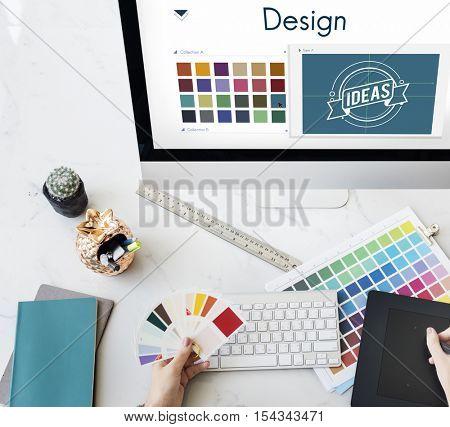 Design Be Creative Inspiration Logo Concept