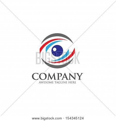 Eyes Logo vector template. circle Vision Logotype concept. optic and eye lens logo vector.