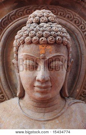 Buddha image in Thai style rock engraving