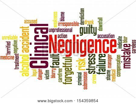 Clinical Negligence, Word Cloud Concept 3