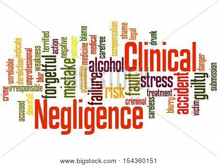 Clinical Negligence, Word Cloud Concept 8
