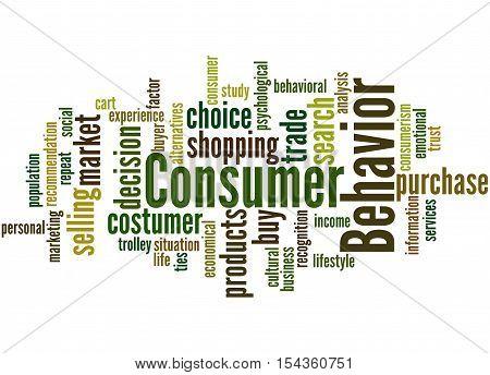 Consumer Behavior, Word Cloud Concept