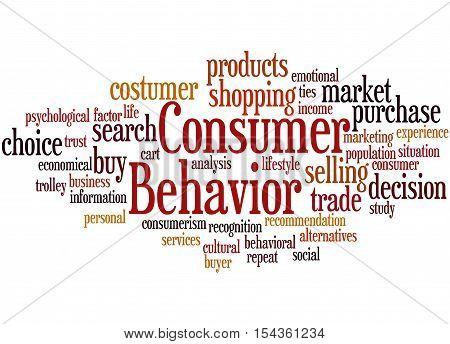 Consumer Behavior, Word Cloud Concept 9