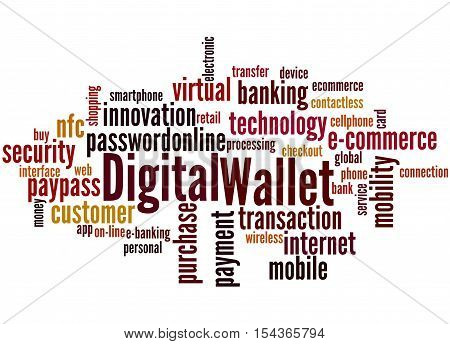 Digital Wallet, Word Cloud Concept 9
