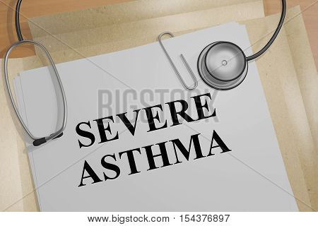 Severe Asthma - Medical Concept
