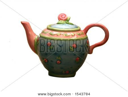 Teapot With Little Pink Roses