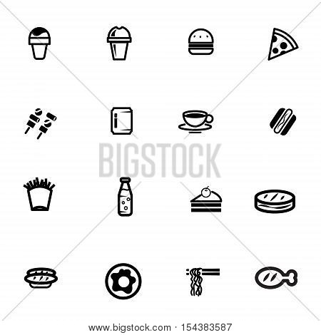 fast food take away delivery food vector icon