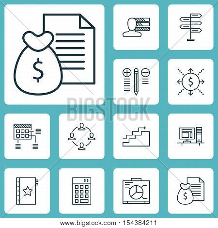 Set Of Project Management Icons On Investment, Growth And Report Topics. Editable Vector Illustratio