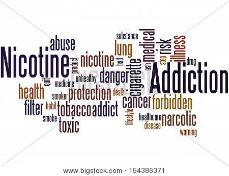 Nicotine Addiction, Word Cloud Concept 7