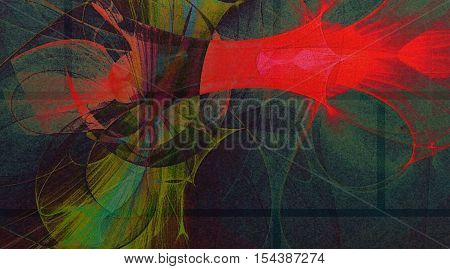 colorful abstract background space fantasy of spirals and lines
