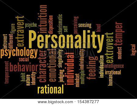 Personality, Word Cloud Concept 4