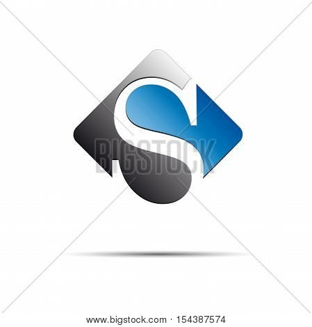 Vector logo initial letter S on white background