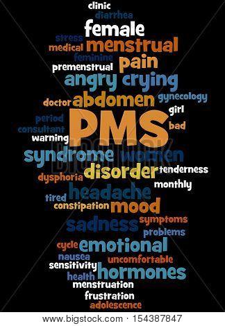 Pms, Word Cloud Concept 4