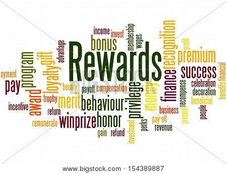 Rewards, Word Cloud Concept 4