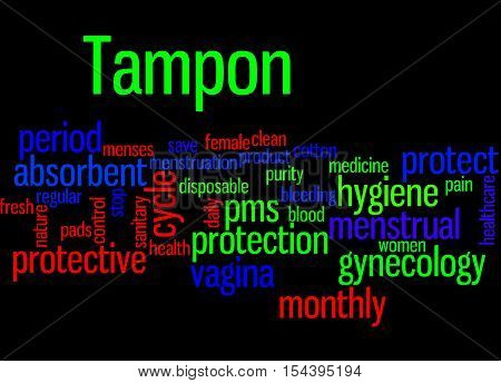 Tampon, Word Cloud Concept 4