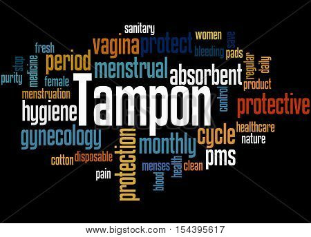 Tampon, Word Cloud Concept 7