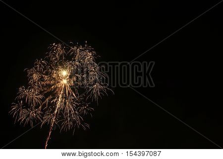Beautifull new year party with beautifull fireworks