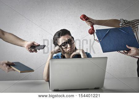 Annoyed employee