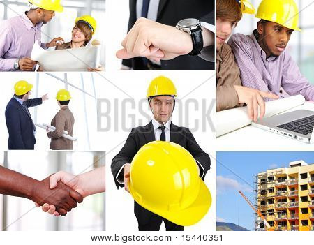Empresarios en lugar de trabajo
