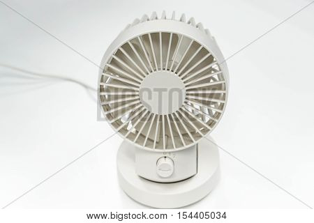 USB portable white fan in the office
