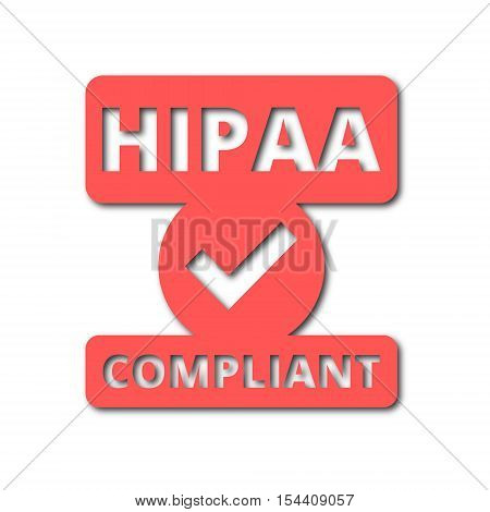 HIPAA badge - Health Insurance Portability and Accountability Act icon