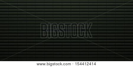 Realistic Dark Green Metal Background (3D Illustration)
