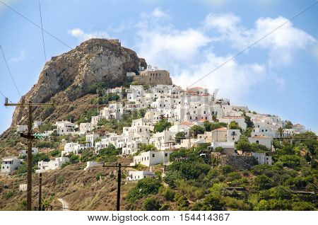 The town of Skyros island Sporades Greece