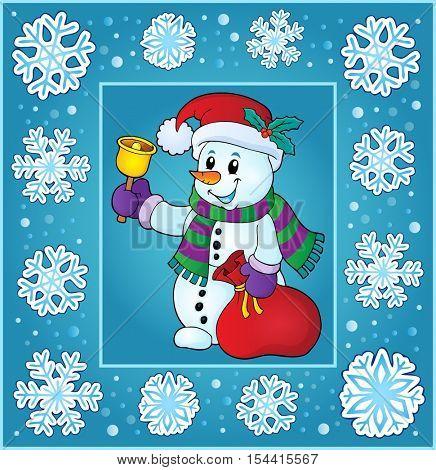 Christmas topic greeting card 9 - eps10 vector illustration.