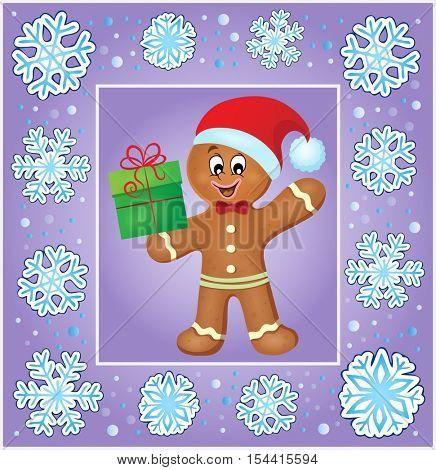 Christmas thematics greeting card 3 - eps10 vector illustration.