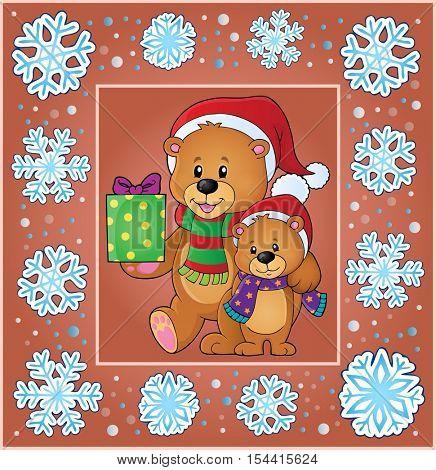 Christmas thematics greeting card 2 - eps10 vector illustration.