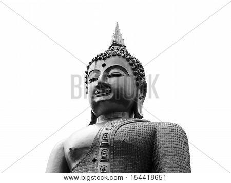 Buddha statue on white.Thailand  for background.  idea