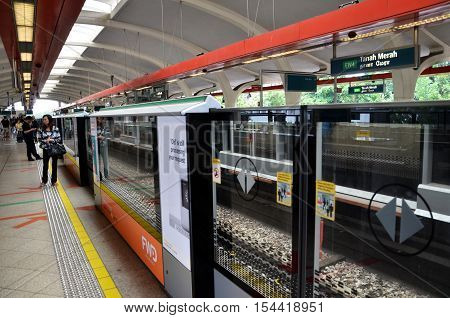 Mass Rapid Transit (mrt) Station In Singapore