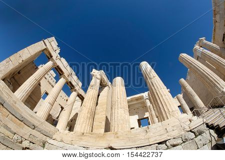 Beule Gate at the Acropolis in Athens Greece