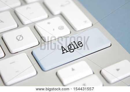 Agile written on a keyboard