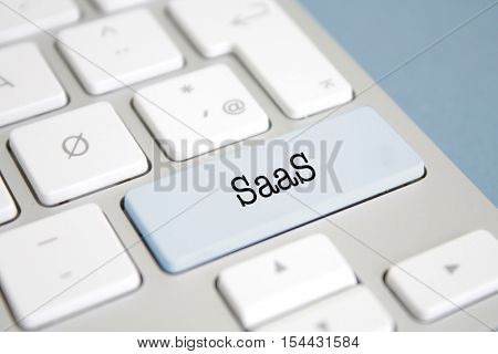 SaaS written on a keyboard