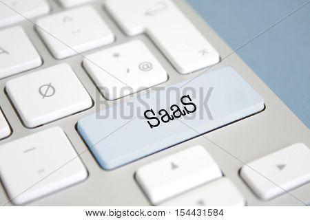 SaaS written on a keyboard