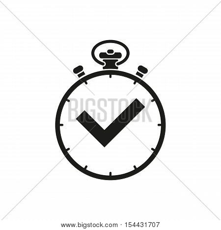 The stopwatch icon. Clock and watch, timer, countdown symbol. UI. Web. Logo. Sign. Flat design. App. Stock vector