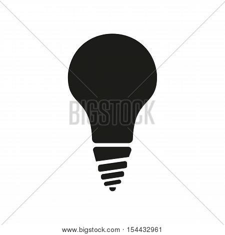 The incandescent lamp icon. Lamp and bulb, lightbulb, filament lamp, glow-lamp, light bulb symbol.UI. Web. Logo. Sign. Flat design. App. Stock vector