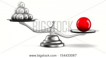 Scales on white background. Isolated 3D image
