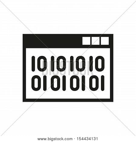 The web code icon. WWW and browser, development, seo symbol. UI. Web. Logo. Sign. Flat design. App. Stock vector