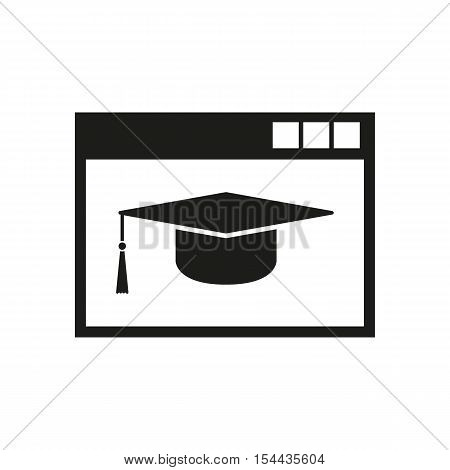 Online education icon. vector design. symbol. web. graphic app. logo. object. flat. image. sign. eps. art. picture - stock vector