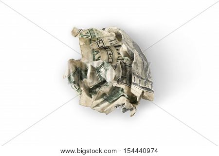 Crumpled Up Dollar Bill