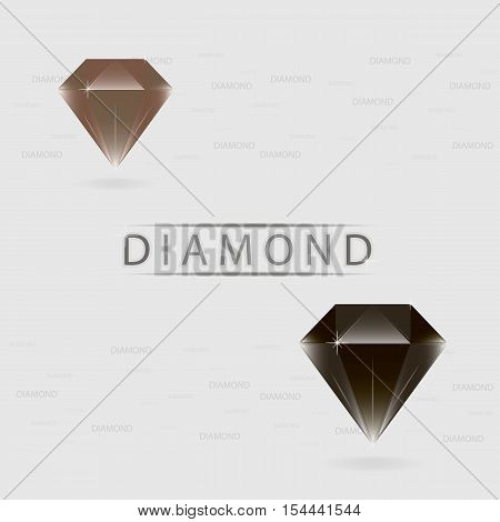 Beautiful diamonds black and brown colors. Vector illustration eps10.