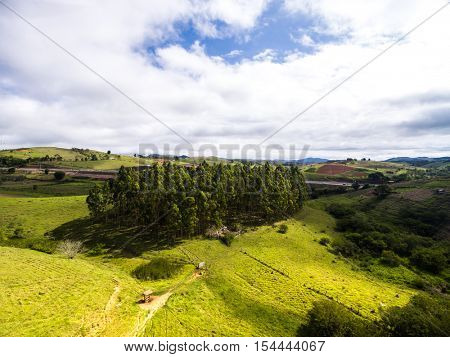 Aerial View of Brazilian countryside