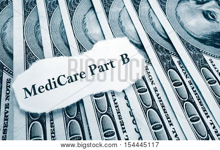 Medicare Part B newspaper headline on money